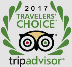 Traveller's choice award from Trip Advisor for 2017